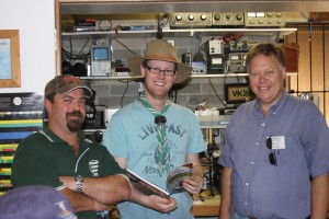 Scout masters in our radio shack, Robert VK2DH on the right