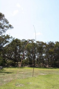7m squid pole, with 6m inverted-V dipole