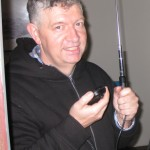 Our VHF link.  Whenever he keyed up he yelped so loud half of Sydney could hear the message!
